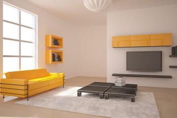 orange modern room