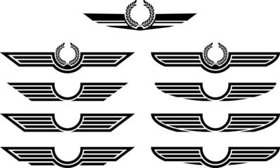 set of insignias. stencils