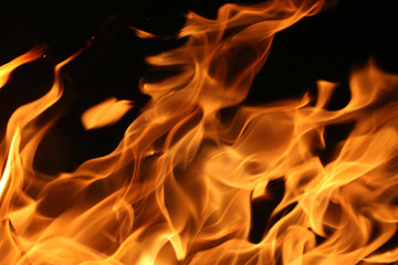 Fire flames abstract background