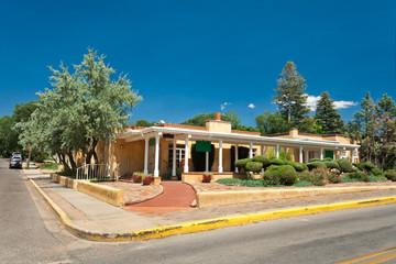 Adobe Spanish Colonial House Porch Santa Fe NM