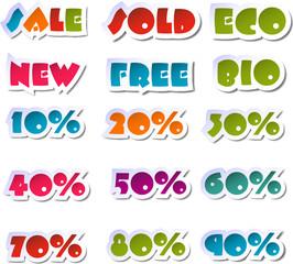 Sale sticker set