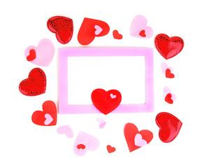 Romantic holiday photo frame