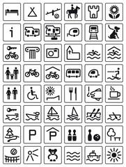 Icons Freizeit Urlaub