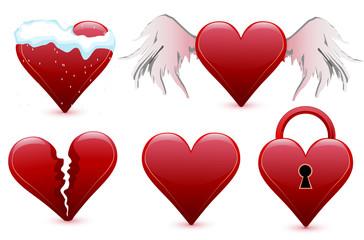 Set hearts, valentine's day