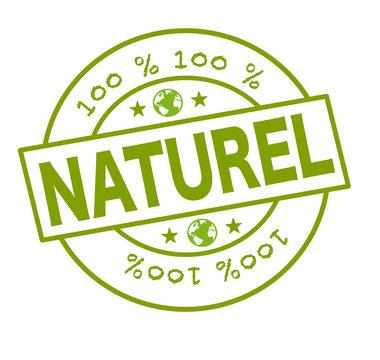 "Tampon ""100 % naturel"""