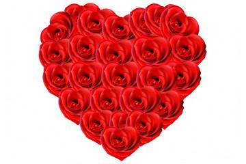 Bouquet de roses en forme de coeur