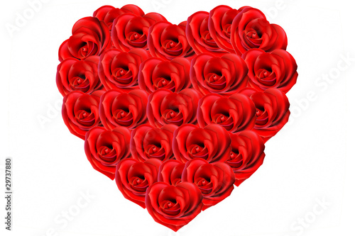 Bouquet De Roses En Forme De Coeur Stock Image And Royalty Free