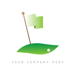 logo picto web golf marketing green commerce design icône