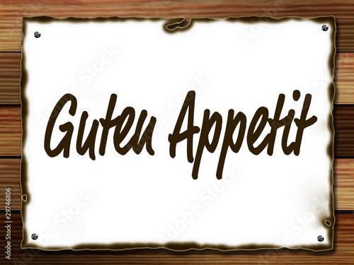 guten appetit sign