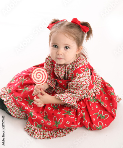 73c5be74b7b6 Cute little girl in Christmas wear
