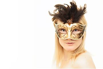 Frau mit venezianischer Maske