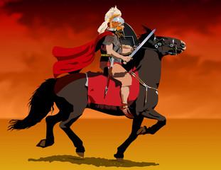 Roman soldier on horseback