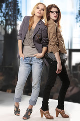 teenage girls modeling at fashion show