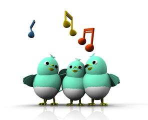 3D TWITTER BIRD SING