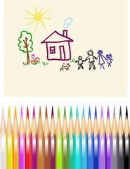 Children's figure color pencils