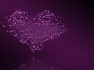 Валентинка, сердце из брызг
