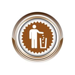 tri déchets environnement logo picto web icône design symbole