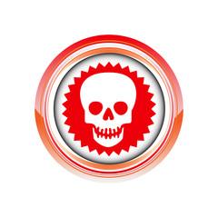 mort squelette danger logo picto web icône design symbole
