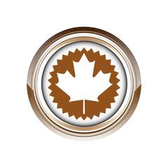 Wall Mural - feuille érable canada logo picto web icône design symbole