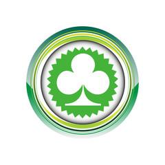 trèfle jeu carte chance logo picto web icône design symbole