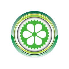fleur jardinage nature vert logo picto web icône design symbole