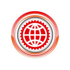 globe monde terre logo picto web icône design symbole