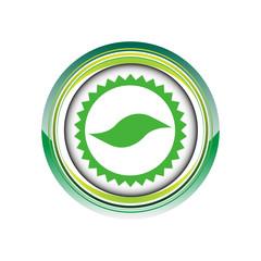 feuille vert jardin nature logo picto web icône design symbole