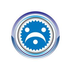 grimace tête visage moue logo picto web icône design symbole