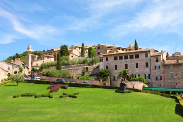Italian city of Assizi,  cityscape