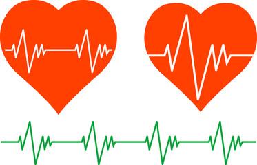stencils of cardiogram