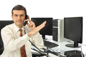 Homme téléphone, augmentaion et progression