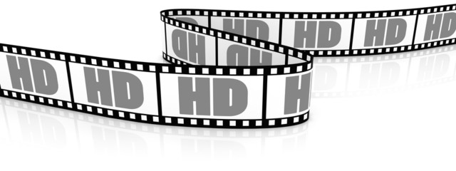 Film zigzag with word HD