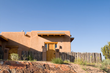 Mission Style Home Adobe New Mexico United States