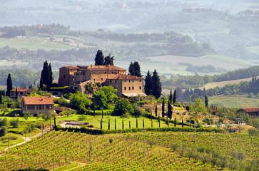 Printed kitchen splashbacks Tuscany Toskana Weingut - Tuscany vineyard 03