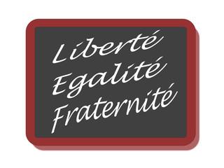 PANNEAU LIBERTE EGALITE FRATERNITE