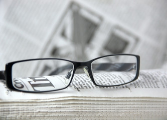 newspapers and glass