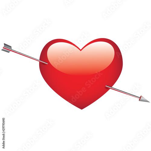 Coeur transperc par la fl che de cupidon fichier vectoriel libre de droits sur la banque d - Image de cupidon gratuite ...