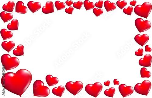 Cornice con palloncini a forma di cuore immagini e for Cornici online per foto