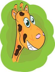 Funny vector giraffe