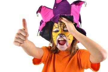 Carnaval - Enfant déguisé chantant
