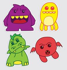 cute little monsters sticker v2