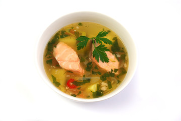 fish soup with salmon