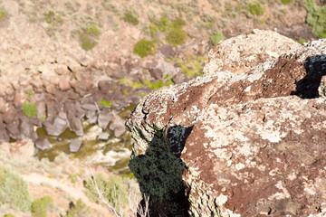 Rocks Above Rio Grande River Gorge New Mexico