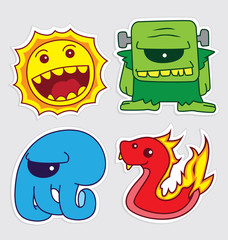 cute little monsters sticker v5
