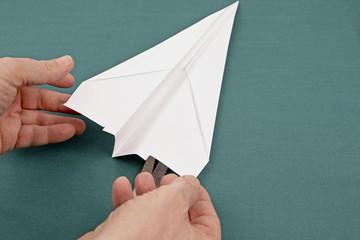 Papierflieger Pfeil 19