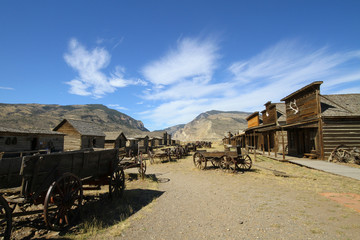 american ghost town wild western style