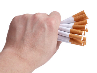 Cigarettes in hand