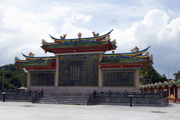 Buddhism temple to Borneo