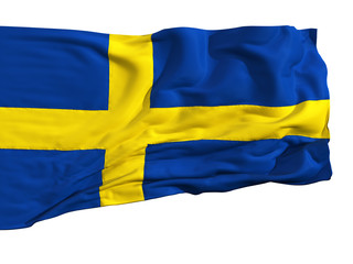 Flag of Sweden, fluttering in the wind