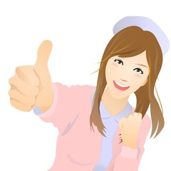 nurse_is_showing_thumb_up_in_winter